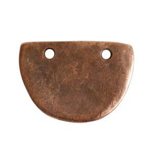 Primitive Tag Small Half OvalAntique Copper