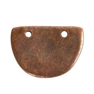 Primitive Tag Small Half Oval<br>Antique Copper