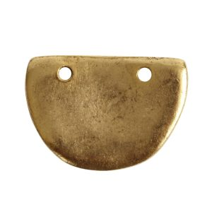 Primitive Tag Small Half Oval<br>Antique Gold