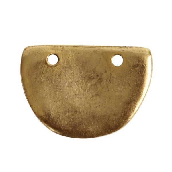 Primitive Tag Small Half OvalAntique Gold