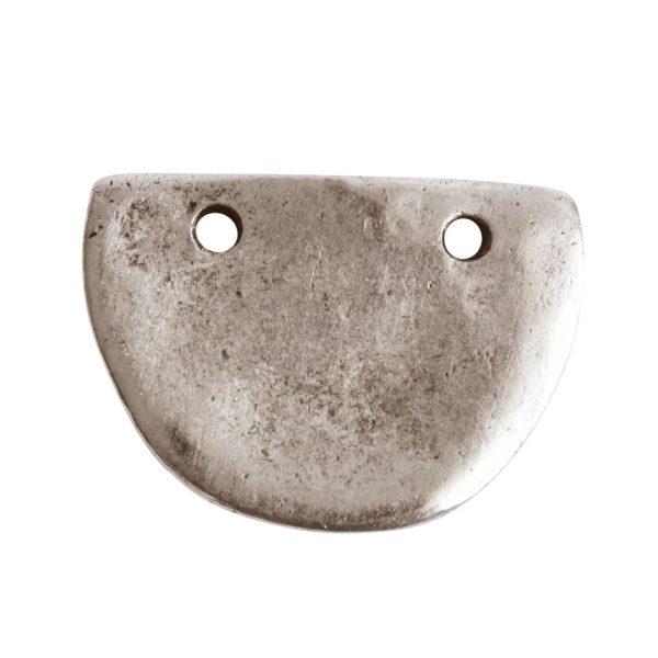 Primitive Tag Small Half OvalAntique Silver