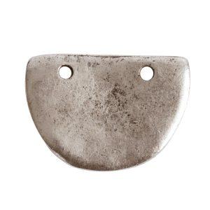 Primitive Tag Small Half Oval<br>Antique Silver