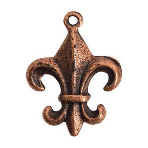 Fleur Charm Antique Copper