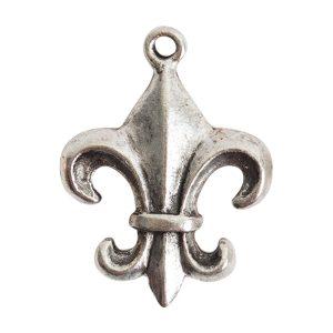 Fleur Charm Antique Silver