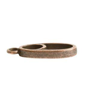 Open Pendant Split Mini Oval Full Single LoopAntique Copper