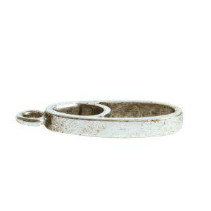 Open Pendant Split Mini Oval Full Single LoopAntique Silver