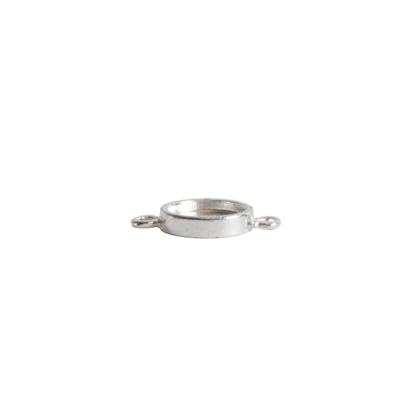 Itsy Link Double Loop CircleSterling Silver Plate