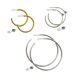 Post Hoop Earrings
