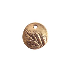 Charm Small Berry LeafAntique Gold