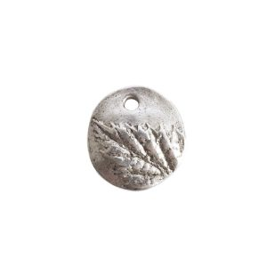 Charm Small Berry LeafAntique Silver