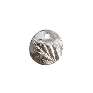 Charm Small Berry LeafSterling Silver Plate