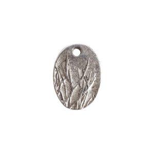 Charm Small Meadow GrassAntique Silver