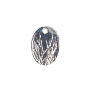 Charm Small Meadow GrassSterling Silver Plate