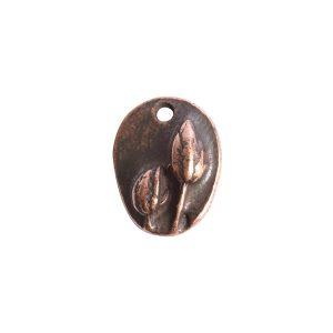 Charm Small Prairie PodAntique Copper