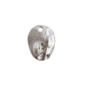 Charm Small Prairie PodAntique Silver