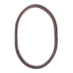 Hoop Hammered Grande OvalAntique Copper