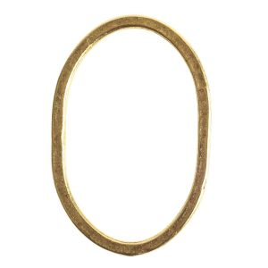 Hoop Hammered Grande OvalAntique Gold