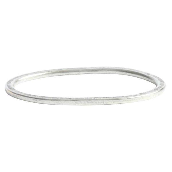 Hoop Hammered Grande OvalAntique Silver