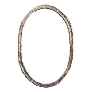 Hoop Hammered Grande OvalSterling Silver Plate