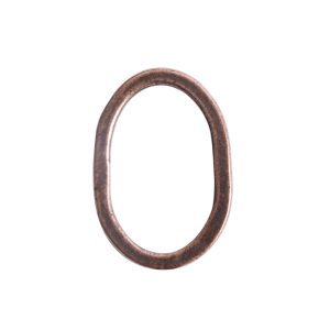 Hoop Hammered Large OvalAntique Copper