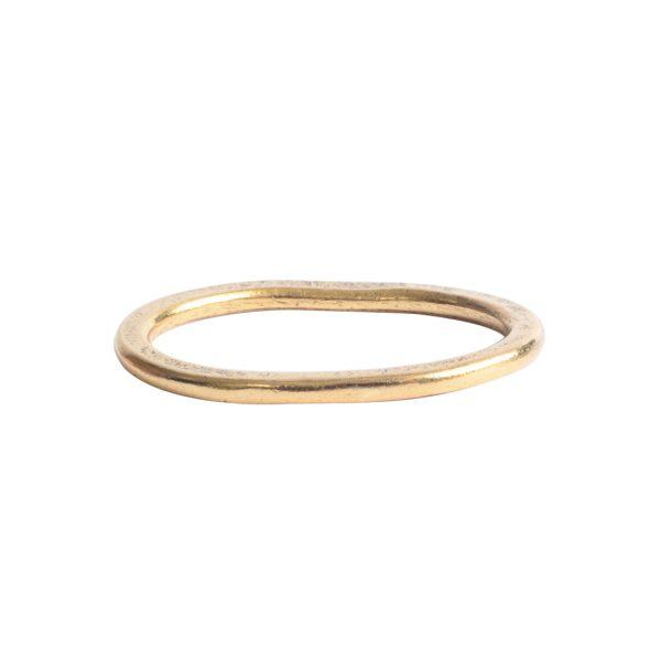 Hoop Hammered Large OvalAntique Gold