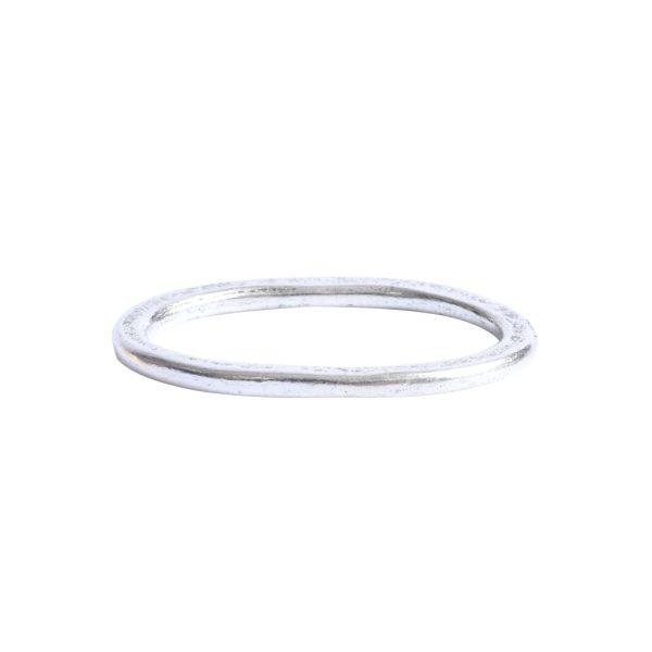 Hoop Hammered Large OvalAntique Silver