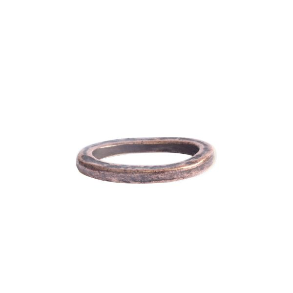 Hoop Hammered Small OvalAntique Copper