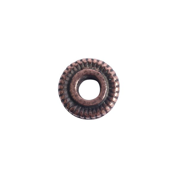 Spacer Bead 6mm Line EdgeAntique Copper
