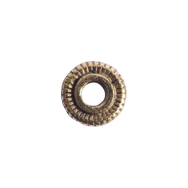 Spacer Bead 6mm Line EdgeAntique Gold