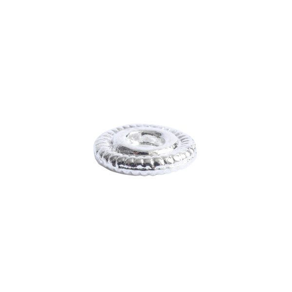 Spacer Bead 6mm Line EdgeSterling Silver Plate