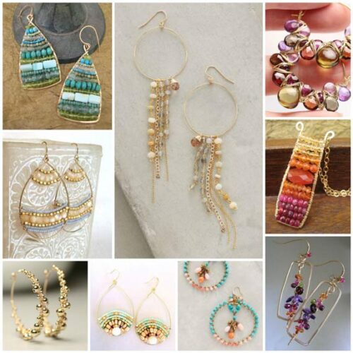 Wire Frame Earring Inspiration