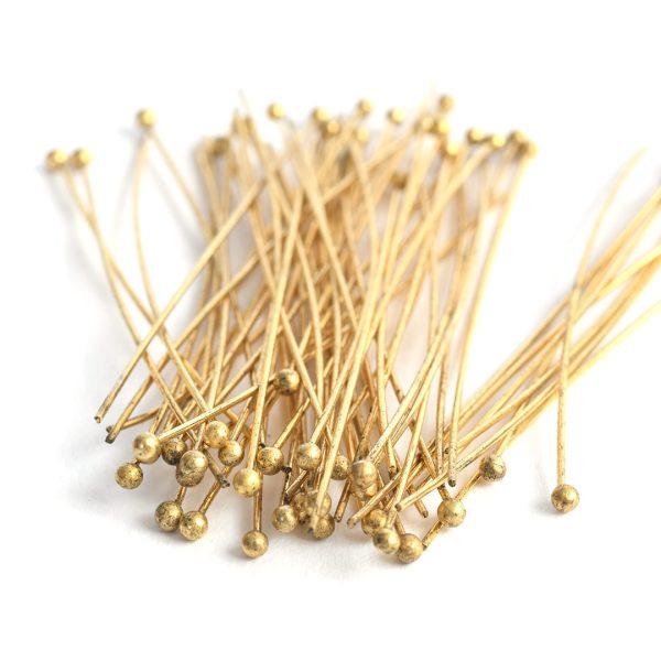 Ball Head Pin 22gAntique Gold