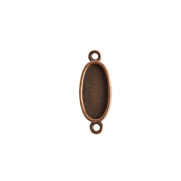 Itsy Link Double Loop OvalAntique Copper