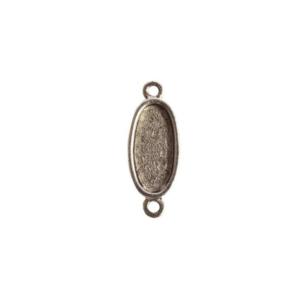 Itsy Link Double Loop OvalAntique Silver