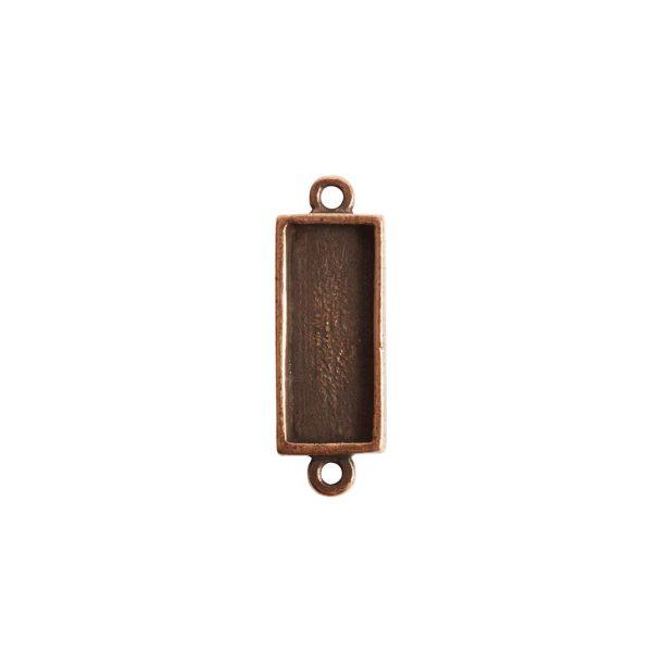 Itsy Link Double Loop Short RectAntique Copper