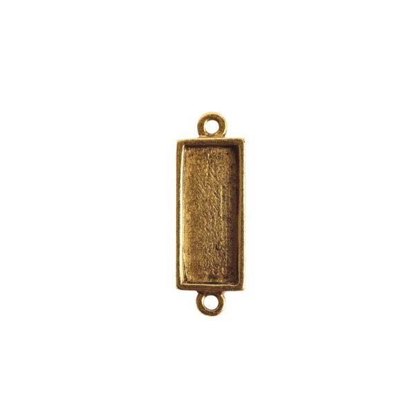 Itsy Link Double Loop Short RectAntique Gold