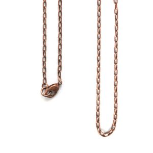 Necklace Small Fine Cable Chain 18 InchAntique Copper