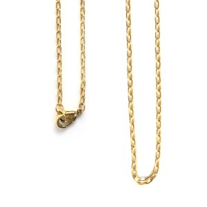 Necklace Small Fine Cable Chain 18 InchAntique Gold