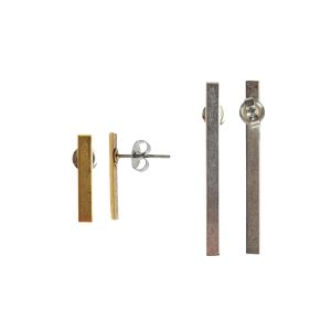 Post Earrings Brass Bars