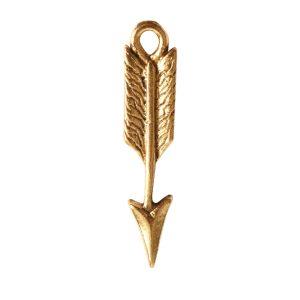 Charm Mini Feather ArrowAntique Gold