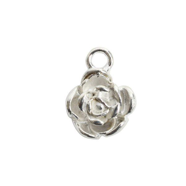 Charm Mini Flower PetalSterling Silver Plate