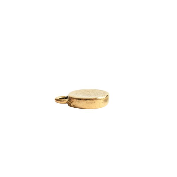 Charm Mini Hammered CircleAntique Gold