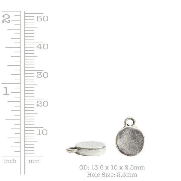 Charm Mini Hammered CircleAntique Copper