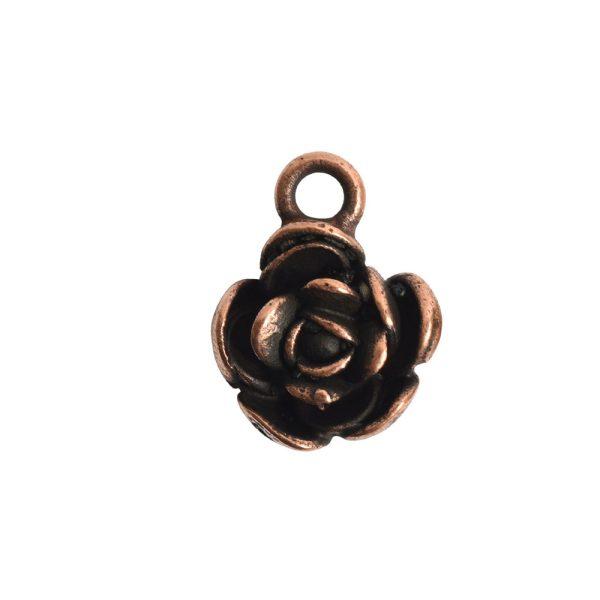 Charm Mini Flower PetalAntique Copper