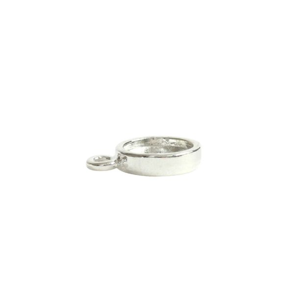 Itsy Link Hammered Circle Single LoopSterling Silver Plate