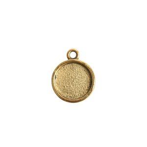 Mini Link Hammered Circle Single Loop<br>Antique Gold