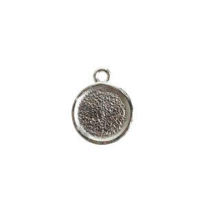 Mini Link Hammered Circle Single Loop<br>Sterling Silver Plate