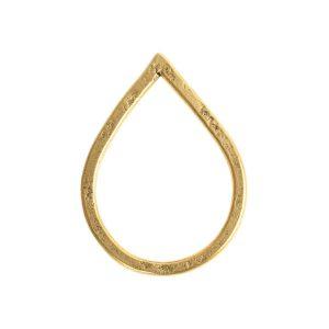 Hoop Hammered Large Drop 36.8x27.3mm DiameterAntique Gold